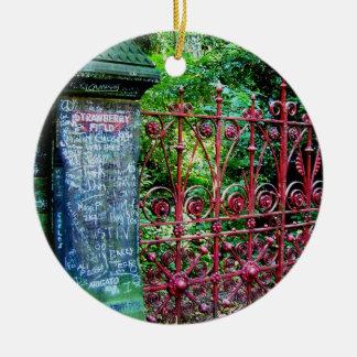 Strawberry Field Gates, Liverpool, UK. Ceramic Ornament