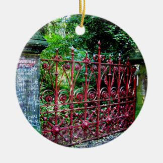 Strawberry Field Gates, Liverpool UK Ceramic Ornament