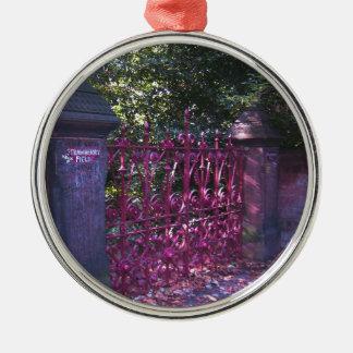 Strawberry Field Gates, Liverpool UK Metal Ornament