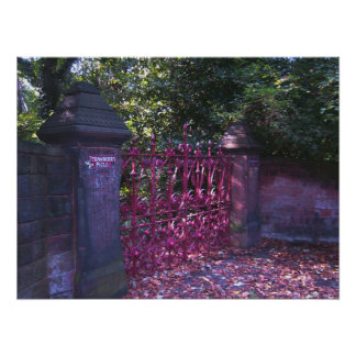 Strawberry Field Gates, Liverpool UK. Poster