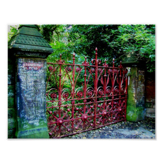 Strawberry Field Gates, Liverpool, UK. Poster