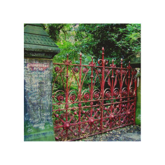 Strawberry Field Gates, Liverpool, UK. Wood Print