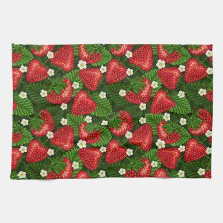 strawberry field kitchen towel