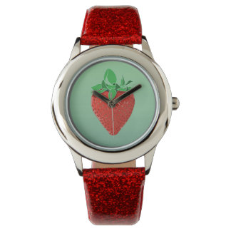 Strawberry Fields brilla reloj inoxidable de la