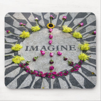 Strawberry fields, central park, new york, mouse pad