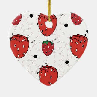 strawberry fields ceramic ornament