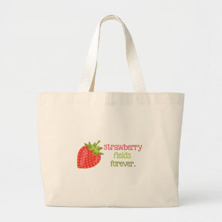 Strawberry Fields Forever Large Tote Bag