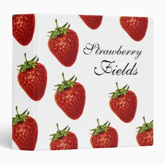 Strawberry Fields Forever Office Binder Folder