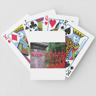 Strawberry Fields Liverpool Bicycle Playing Cards