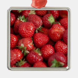 Strawberry Fields Metal Ornament