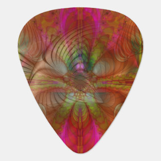 Strawberry Fields Psychedelic Abstract Guitar Pick