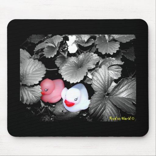 """""""Strawberry Fields"""" Rubber Duck Mousepad"""