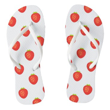Beach Themed Strawberry Flip Flops