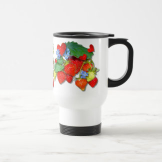 STRAWBERRY FLORAL Travel Commuter Mug