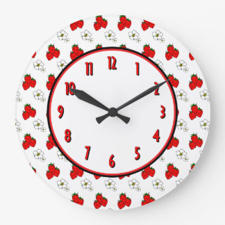 Strawberry Flower Retro Kitchen Wall Clock