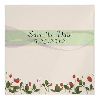 Strawberry Flowers Invite
