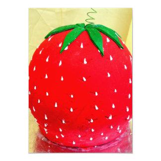 Strawberry fondant invitations
