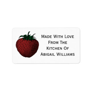 Strawberry Food Canning Label