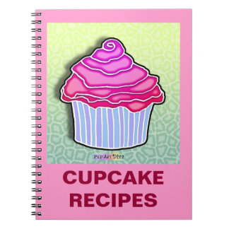 Strawberry Frosted Cupcake Recipe Notebook