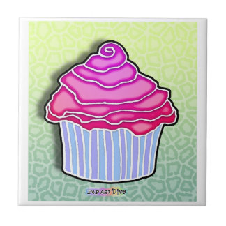 Strawberry Frosted Cupcake Tile