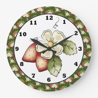 Strawberry Fruit Kitchen wall clock
