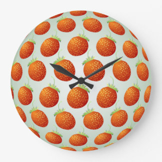 Strawberry Fruit Pattern Wall Clock