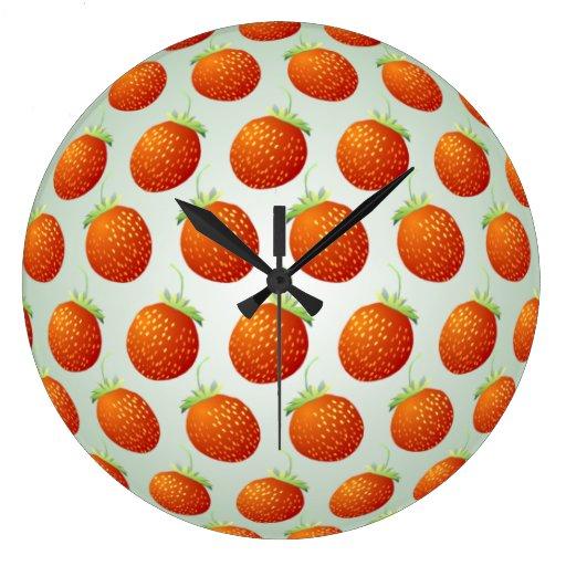 Strawberry Fruit Pattern Wall Clock