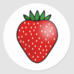 Strawberry Fruit Stickers