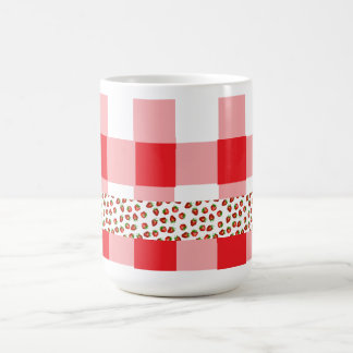 Strawberry Gingham Coffee and Tea Mug
