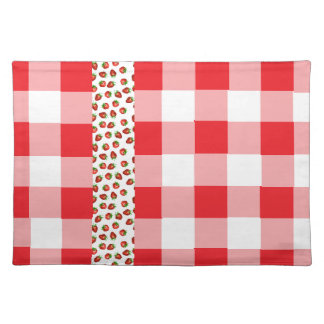 Strawberry Gingham Placemat