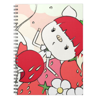 Strawberry Girl Notebook
