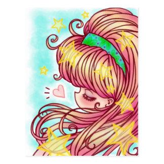 Strawberry Girl Postcard