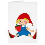 Strawberry Gnome Greeting Card