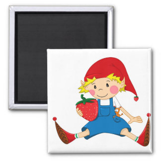 Strawberry Gnome Magnet