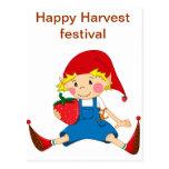 Strawberry Gnome Postcard
