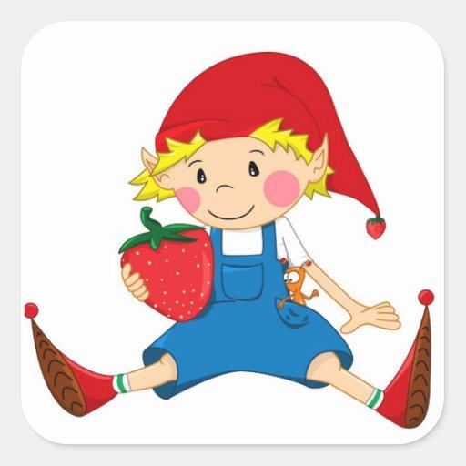 Strawberry Gnome Sticker