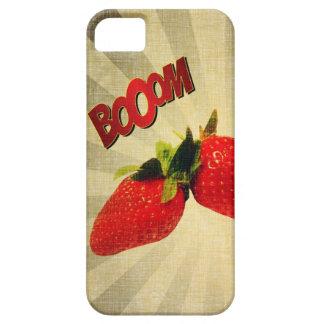 Strawberry go BOOM Popart iPhone SE/5/5s Case