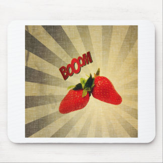 Strawberry go BOOM Popart Mouse Pad
