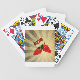 Strawberry go BOOM Popart Bicycle Poker Cards