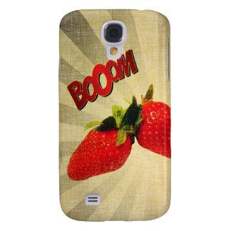 Strawberry go BOOM Popart Samsung S4 Case