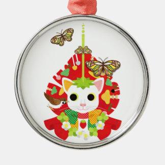 Strawberry great fortune (Strawberry Daifuku) Metal Ornament