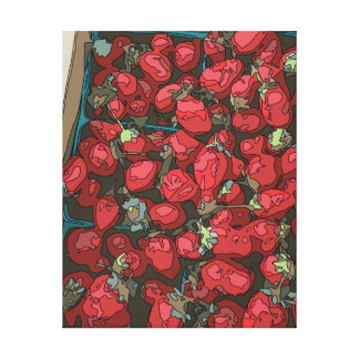 Strawberry Harvest Stretched Canvas Prints
