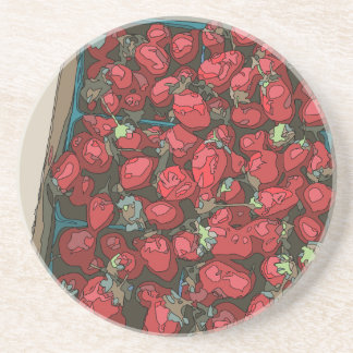Strawberry Harvest Drink Coasters