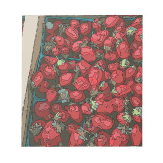 Strawberry Harvest Memo Note Pad