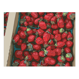 Strawberry Harvest Postcard