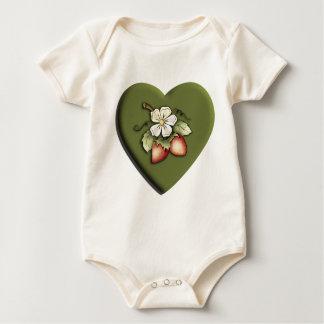 Strawberry Heart Baby Creeper