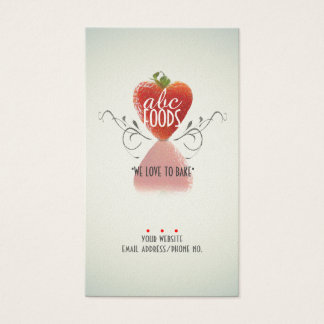 Strawberry Heart (Baking/Chef/Cake Decoration) v2 Business Card