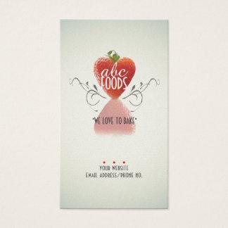 Strawberry Heart (Baking/Chef/Cake Decoration) v2 Business Card