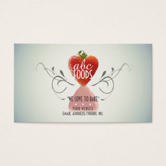 Strawberry Heart (Baking/Cooking/Cake Decoration) Business Card