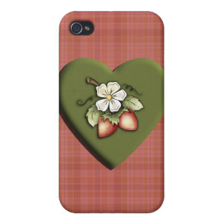 Strawberry Heart Covers For iPhone 4